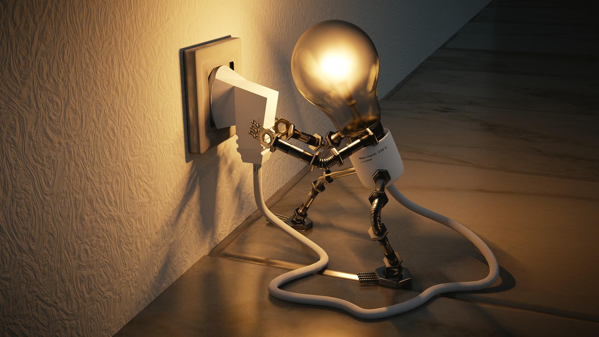 Light bulb representing the business idea